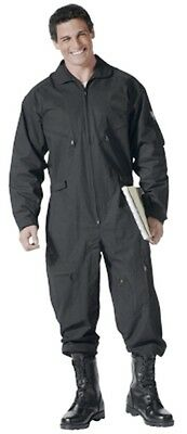 Rothco Black Flight Suit Coveralls 7502 New