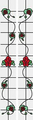 Dollhouse 1//12 Simulated Leadlight Stained Glass Door Sidelight Inserts SLIM18