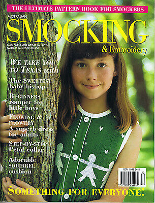 Australian Smocking & Embroidery Magazine issue 52 pattern sheets attached