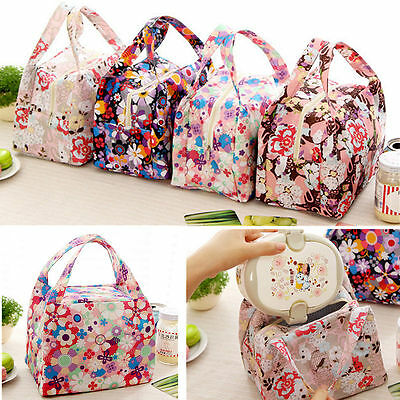 Lunch Box Bag Carry Storage Handbag Tote Thermal Insulated Waterproof Cooler