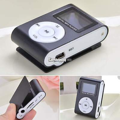 Mini USB Clip MP3 Player LCD Screen Support 32GB Micro SD TF Card With FM Radio
