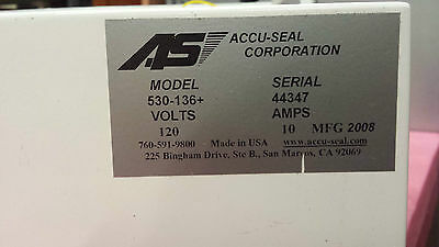 ACCU-SEAL 530 plus Model 530-136+  Sealer Fedex Shipping