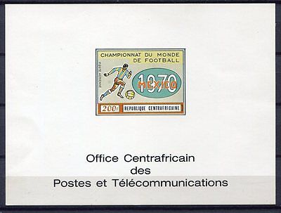 s4901) CENTRAFRICAINE REP. 1970 MNH** WC Football - CM Calcio S/S IMPERF DE LUXE