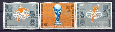 s5079) CAMEROUN 1974 MNH** World Cup Football - Coppa del Mondo Calcio 3v.