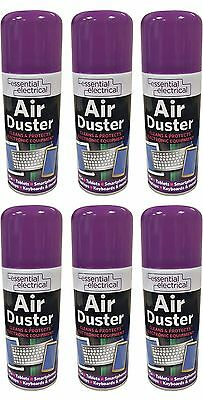 6 X New Compressed Air Can Duster Spray Can Cleaner Laptop Keyboard Electronics