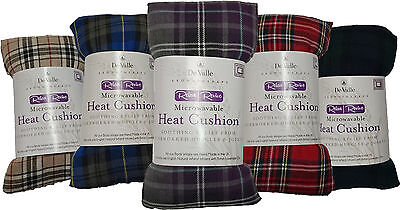 Tartan Design Lavender And Wheat Bag- Heat Cool Pack, Microwaveable, Freezable