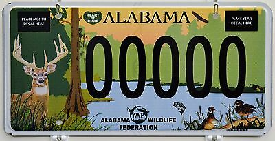 Alabama Wildlife Federation Deer Graphic Sample License Plate Tag