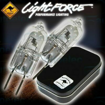 2x LIGHTFORCE GLOBES VERTICAL FILAMENT 170 STRIKER 240 BLITZ 12V HALOGEN 100W