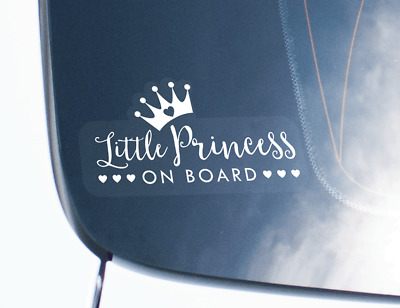 Child On Board Decal Sticker For Car - Little Princess Design