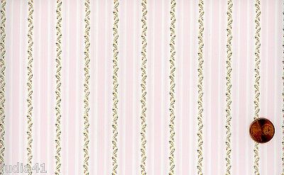 Dollhouse Wallpaper / 3 Sheets of Country Side Pink 112D2