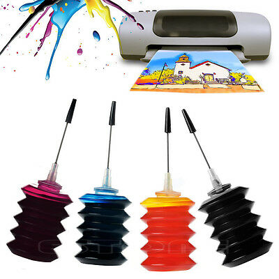 New 4 X 30ml Color Ink Refill Kit Cartridges For HP Lexmark Canon Printers FMO