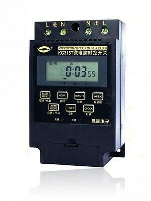 KG316T AC 220V Microcomputer Timer Switch Programmable Controller RNR