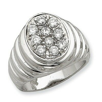 1.25CT Men/'s Round Cubic Zirconia Wedding Band .925 Sterling Silver Ring 9-12