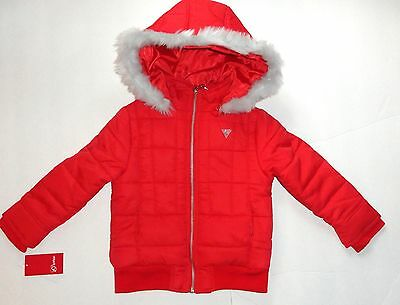 New Guess 7 Years Red Jacket Bomber Puffer Jacket Authentic