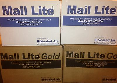 Mail Lite / Lites Padded Bags Envelopes 'All Sizes' +Free 24H Del - White & Gold