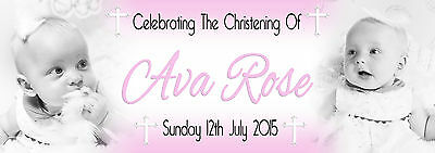 Personalised 2 - Photo Party Banner Birthday, Christening, Baptism, Naming Day