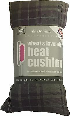 Tartan Design Grey Lavender Wheat Bag- Heat Cool Pack, Microwaveable, Freezable