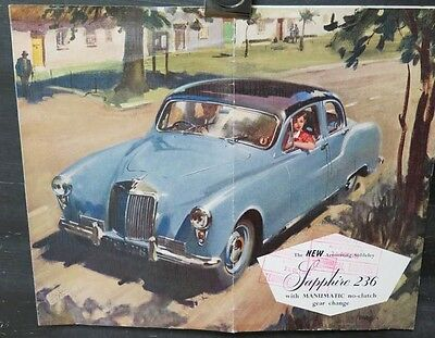 1955 Armstrong Siddeley Sapphire 236 Large Brochure wv4768
