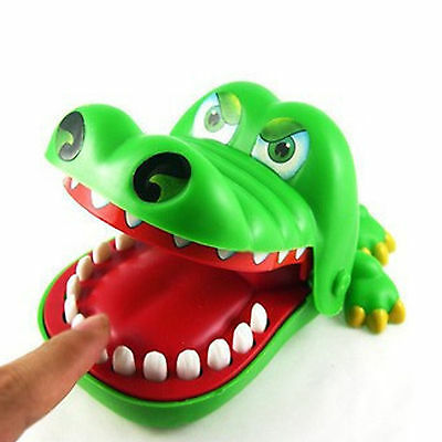 Big Lovely Cute Toy Crocodile Dentist Bite Mouth Alligator Roulette Game Kids