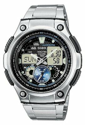 Casio Men's Analog and Digital Quartz Multifunction Calendar Light Watch