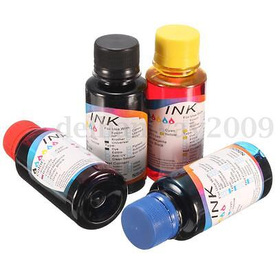 100ml CISS 4 Color Universal Printer Refill Bottles Replace Cannon Ink Cartridge