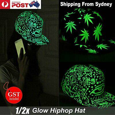 Night Glow Hiphop Hat Men Women Baseball Snapback Adjustable Flat Hippie Cap