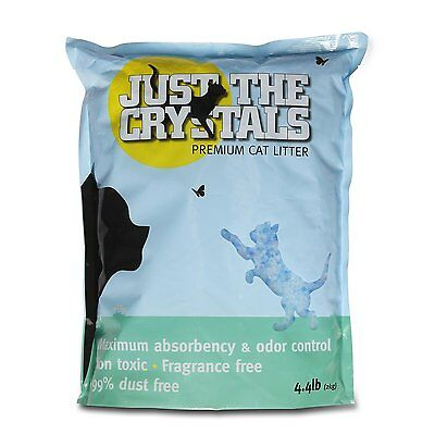 Just the Crystals Premium Crystal Cat Litter -- Fragrance Free and Pre-Measured