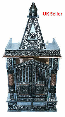 "Oxidised Copper Puja Pooja Mandir Hindu Temple 12""W X 9""D X 23""H_UK Seller"