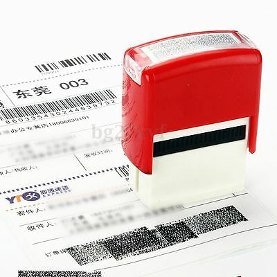 Security Hide ID Garbled Rubber Stamp For Protect Office Document Identity Theft