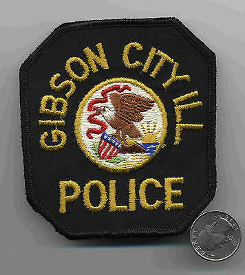 Vintage Gibson City Illinois Police Patch Obsolete