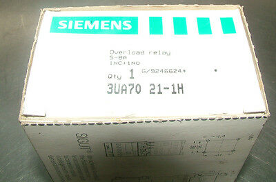 Siemens Simicont 3UA70 21-1H  Overload Relay