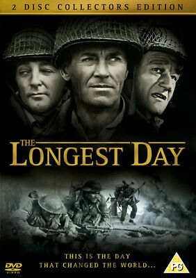 The Longest Day DVD (2004) John Wayne, Annakin (DIR) cert PG 2 discs Great Value