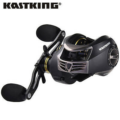 KastKing Stealth All Carbon Baitcast Reel Low Profile - 6oz Super Light Weight