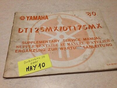 Yamaha DT125MX 2A8 DT175MX 2K4 DTMX 125 175 80 supplement manuel atelier DT MX