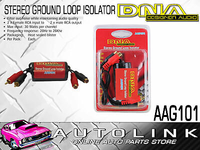 Dna Stereo Ground Loop Isolator - Eliminates Hum Noise Through Stereo ( Aag101 )