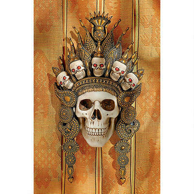Tribal Crown of Death Evoke Ancient Spirits Afterlife Indonesian Skull Wall Mask
