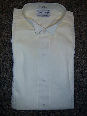 NEW Light Ivory Tuxedo Wing Collar Formal Shirt - most mens sizes avilable