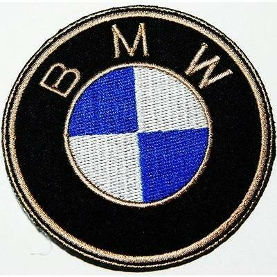 BMW CAR BIKE IRON ON SEW ON EMBROIDERED PATCH 6.5cm DIAMETER RACING LOGO