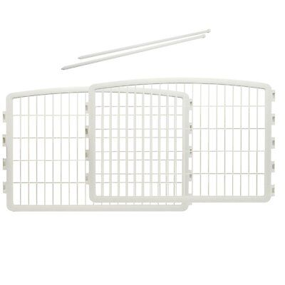 IRIS Plastic Puppy and Dog Pet Playpen (Style: 24''H-Panel) (Color: White) NEW