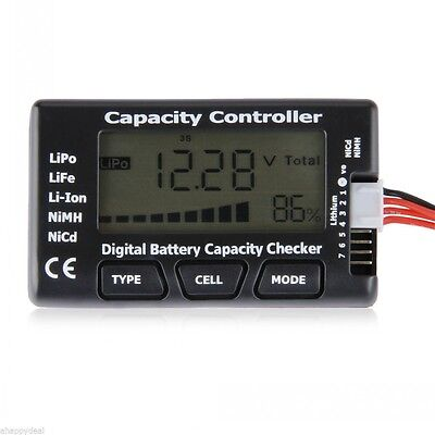 Battery Capacity Voltage Checker Tester  LCD for LiPo LiFe Li-ion NiMH Nicd 2-7s