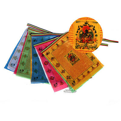 Tibetan Buddhist Prayer Flag 110 Inch Long Buddhism Green Tara Buddha Scriptures