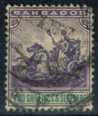 Barbados 1905 2s6d Violet & Green SG144 Ave Used
