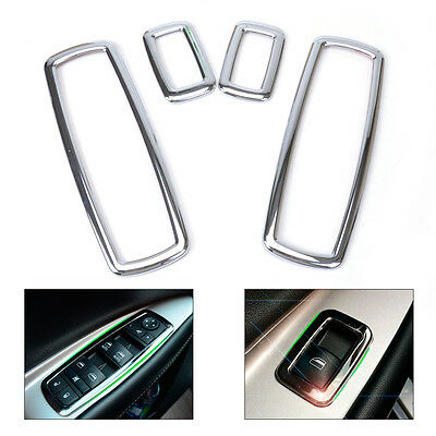 4stk Chrom Fensterheberschalter Rahmen für Jeep Grand Cherokee Dodge Window Trim