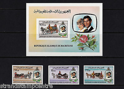 Mauritania - 1981 Royal Wedding (Charles & Diana) - UM - SG 701-3 + MS704 IMPERF