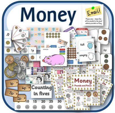 MONEY KS1 Primary Maths teaching resources ppts display activities TO PRINT