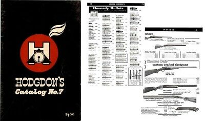 Hodgdon, BE c1963 No. 7 Guns, Reloading, Access. Shawnee Mission KS