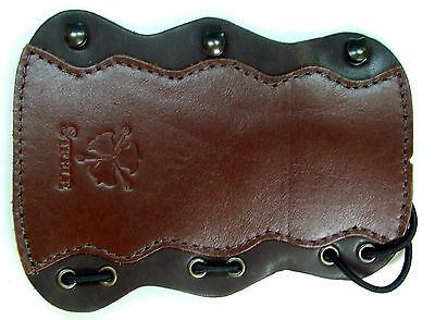 Strele Hard Leather Archery Armguard Arm Guard Bow Bracer Shield Protection