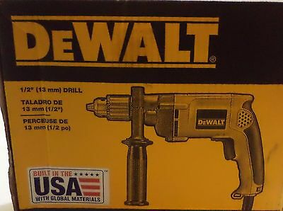 "DeWalt DW511 1/2"" (13mm) 7.8 Amp VSR Dual Mode: Hammerdrill 360° Side Handle"