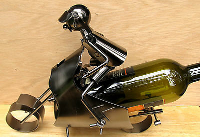 Motorcycle/Scooter polished Metal Wine Caddy Bottle Holder bar accessory