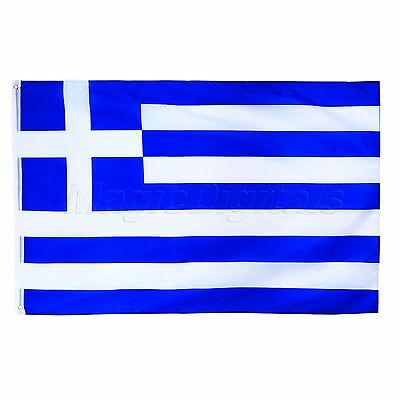 Greece National Flag Greek Hellenic Republic Ethnic Hanging Banner Sports 3x5FT